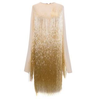 Charbel Zoe Gold Embelished Dress