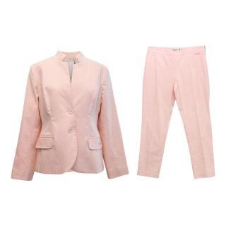 Pringle Orange Pinstripe Trouser Suit