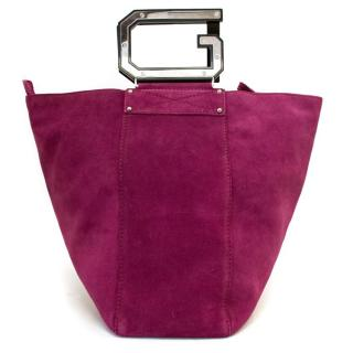 Dolce & Gabbana Pink Suede Bucket Bag with D&G Handles