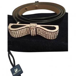 Swarovski Crystal leather Belt