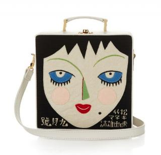 Olympia Le Tan Face Embroidered Box bag