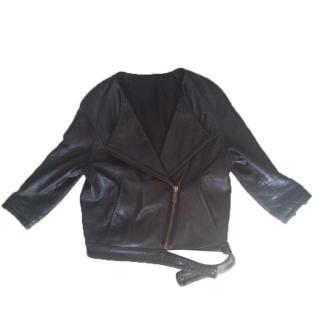 Acne Biker Style Leather Jacket