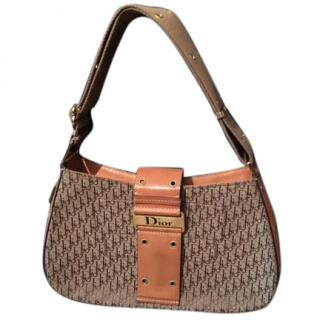 Dior Brown and beige canvas bag
