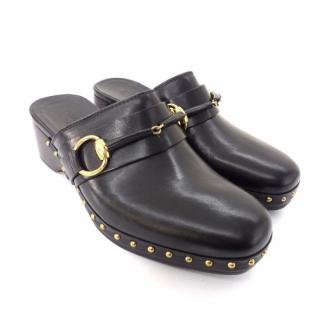 GUCCI by TOM FORD Amstel Clog in Black Leather with Signature Horsebit