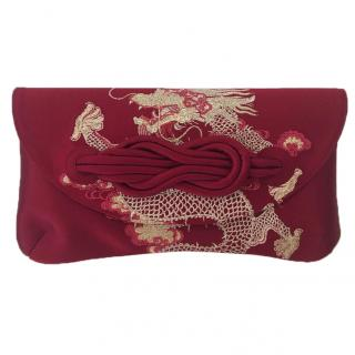 Shanghai Tang silk embroidery clutch