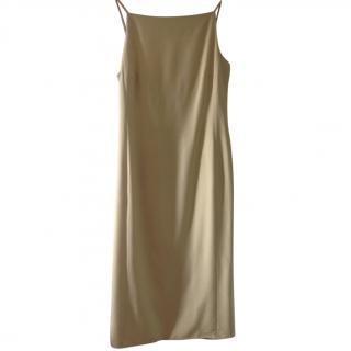 MaxMara cream silk low back dress