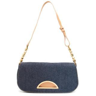 Christian Dior Denim Shoulder Bag