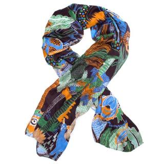 Mary Katrantzou Silk Patterned Scarf