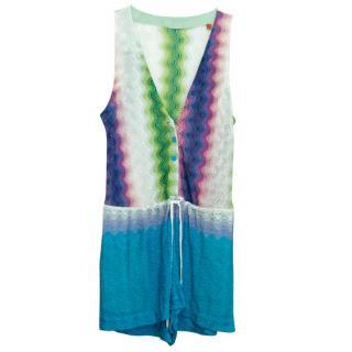 Missoni Beach Multi-Coloured Metallic Knit Romper