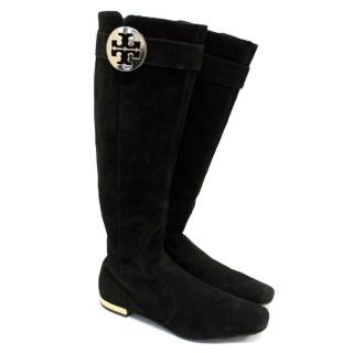 Tory Burch Blac Suede Boots