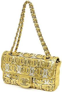 Chanel RARE Collectors Gold Metallic Bag