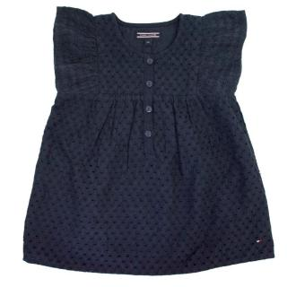 Tommy Hilfiger Girls Navy Frill Blouse