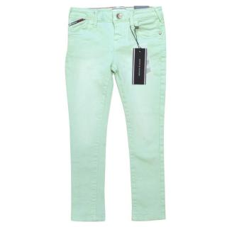 Tommy Hilfiger Girls Mint Green Jeans