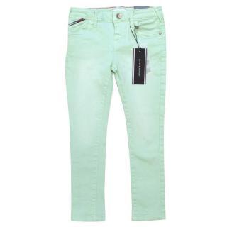 Tommy Hilfiger Girls Mint Green Jeans