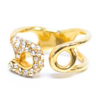 Giuseppe Zanotti Sian Safety Pin Brass Ring