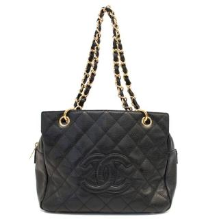 Chanel Quilted Black Mini Shopper Bag