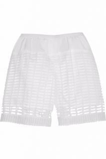 Chloe Mainline White Milk Lace Crochet Bermuda Cotton Shorts