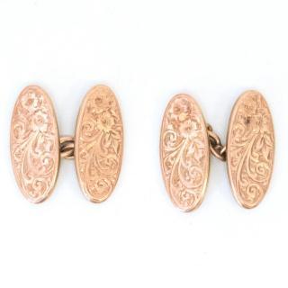 Vintage Gold Plated Brass Cufflinks