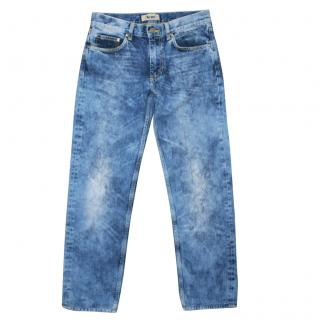 Acne Her Fresh Acid Wash Bleach Boyfriend Jeans