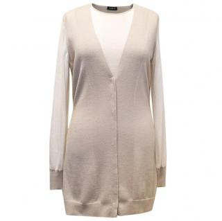 Akris Cream and Nude Cashmere-Silk Blend Twinset