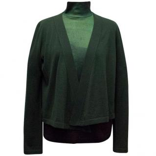 Akris Green Turtle Neck Twinset