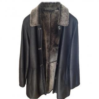 Salvatore Ferragamo black leather men's jacket/coat