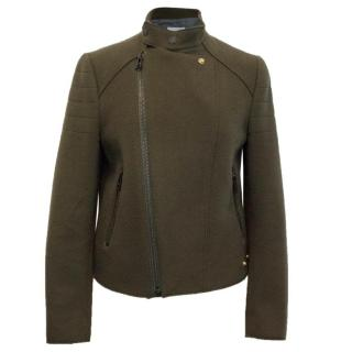 Zadig & Voltaire Khaki Soft Bomber Jacket