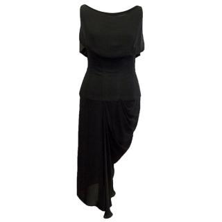 Chloe Sheer Corset Black Dress