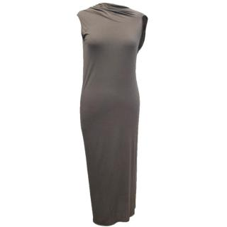 Rick Owens Lillies Dark Taupe Jersey Dress