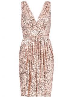 Badgely Mischka Blush Pink Sequin Dress