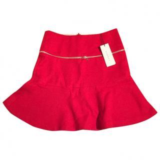 Red Sandro Skater Skirt