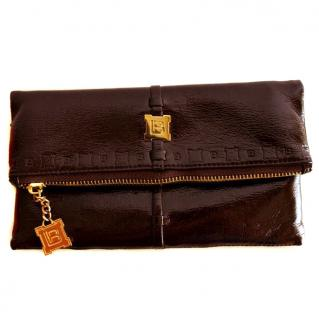 Laura Biagiotti Brown Clutch Bag