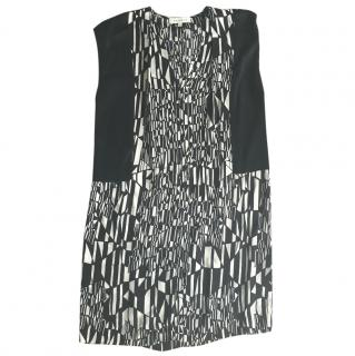 Sandro Monochrome Abstract Dress