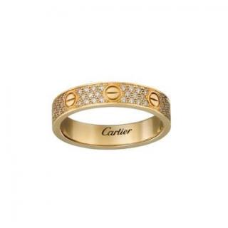 Cartier Love Ring Yellow Gold/ Pave Diamonds