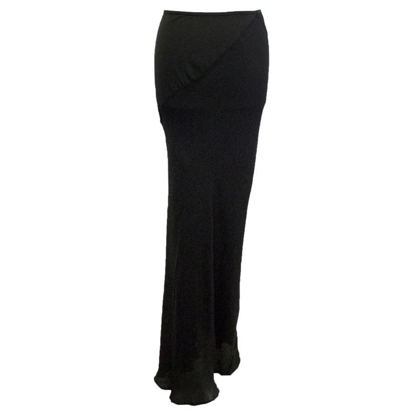 John Rocha Long Sheer Black Skirt