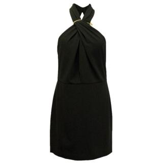 Halston Heritage cross front cut out mini dress