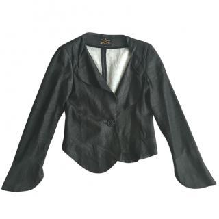 Vivienne Westwood Anglomania Grey Linen Like Fabric Jacket