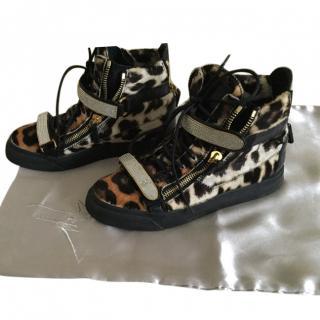 Giuseppe Zanotti leopard high top sneakers