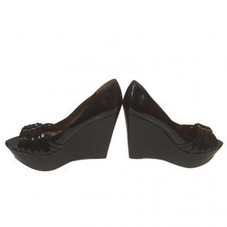 Sam Edelman Wynonna Black wedge shoe Size 5