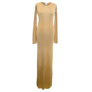 Amanda Wakeley Gold Maxi Dress