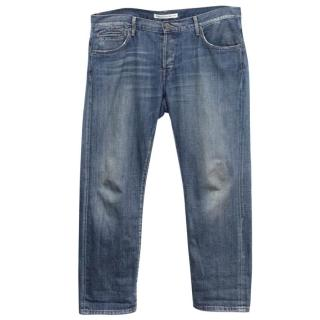Twenty8Twelve Blue Straight Leg Distressed Jeans