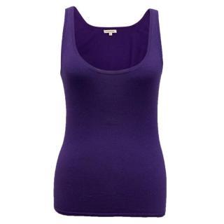 P.A.R.O.S.H Colbat Blue Silk Blend Vest Top