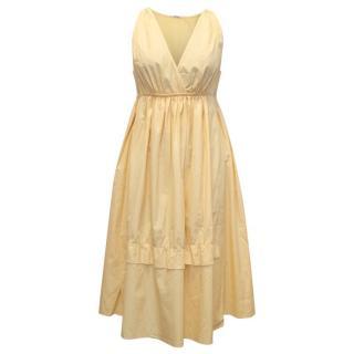 Miu Miu yellow cotton sun dress