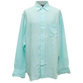 Vilebrequin turquoise linen shirt