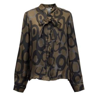 Chloe Pussy Bow Patterned Blouse