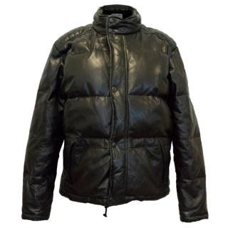 Ralph Lauren Polo Sport Collection Black Leather Coat