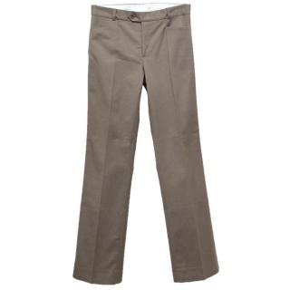 Joseph taupe wide leg cotton trousers