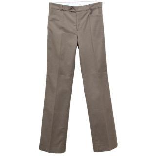 Joseph taupe wide leg cotton trousers