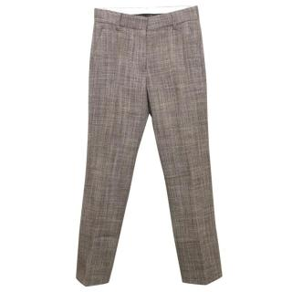 Marc Jacobs Tweed Brown Wide Leg Ankle Grazers