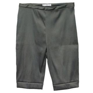 Prada Dark Grey/Silver Stretch Shorts